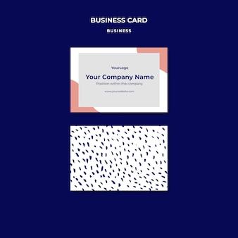 Visitenkartenvorlage für den firmennamen