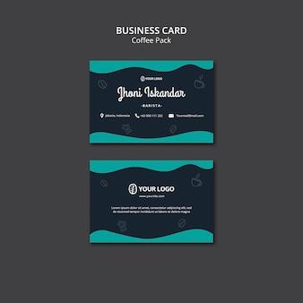 Visitenkartenvorlage mit kaffeekonzept