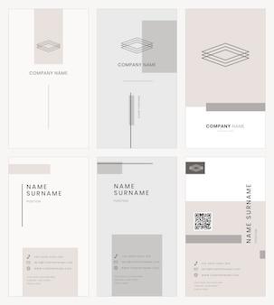 Visitenkartenvorlage psd einfaches stilset