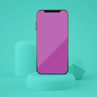 Vollbild-smartphone-modell 3d-rendering