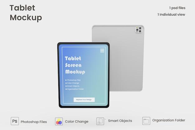 Vollbild-tablet-mockup-design premium psd