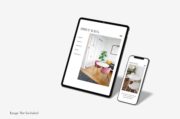 Vollbild-tablet- und smartphone-modelldesign