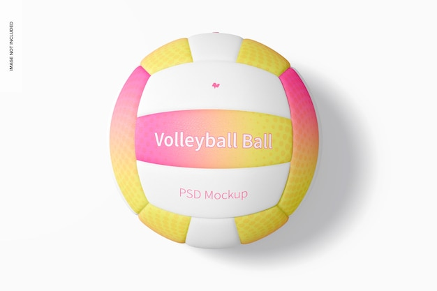 Volleyball-spielball-modell, ansicht von oben