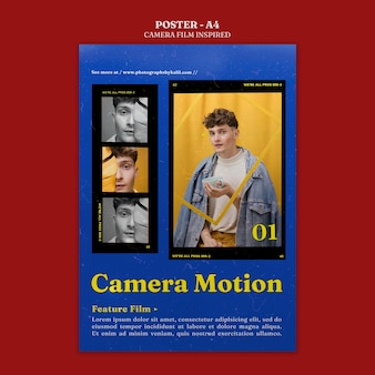 Vom kamerafilm inspiriertes poster
