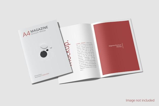 Vorder- und rückseite des magazin- oder broschürenmodells