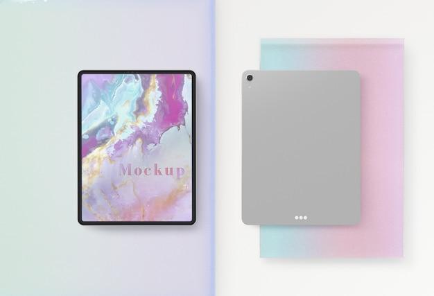 Vorder- und rückseite des tablet-geräts