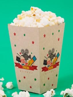 Vorderansicht der popcornschale