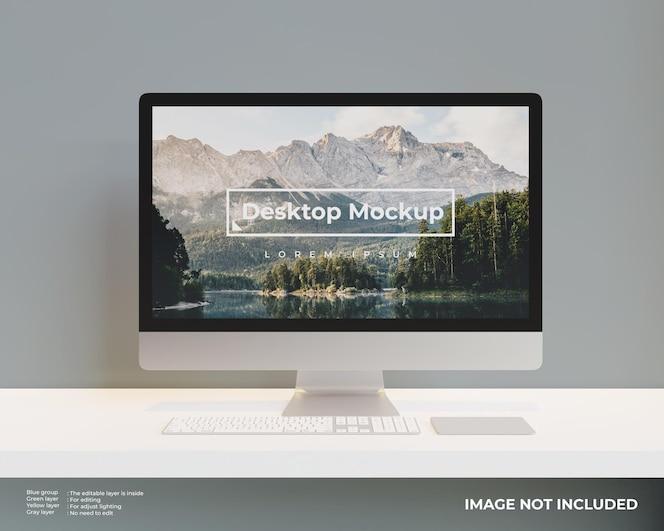 Vorderansicht des desktop-modells