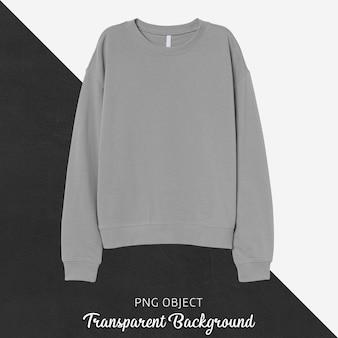 Vorderansicht des grauen sweatshirt-modells