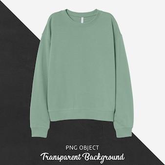 Vorderansicht des hellgrünen sweatshirt-modells