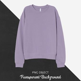 Vorderansicht des hellvioletten sweatshirt-modells