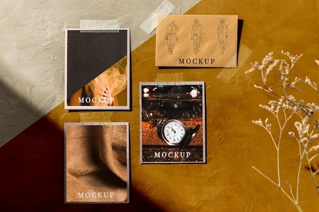 Vorderansicht des herbst-moodboard-modells