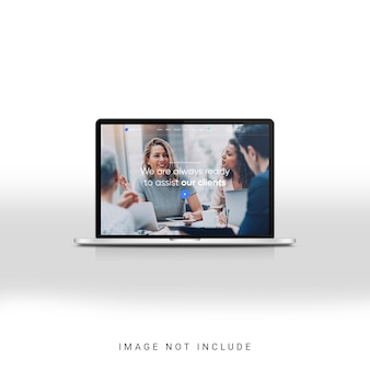 Vorderansicht des laptop-anzeigemodells
