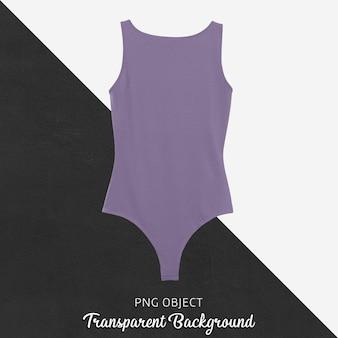 Vorderansicht des lila bodysuit-modells