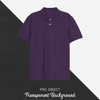 Vorderansicht des lila polo-t-shirt-modells