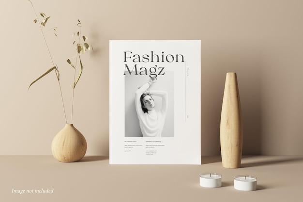 Vorderansicht des magazin-cover-modells Premium PSD