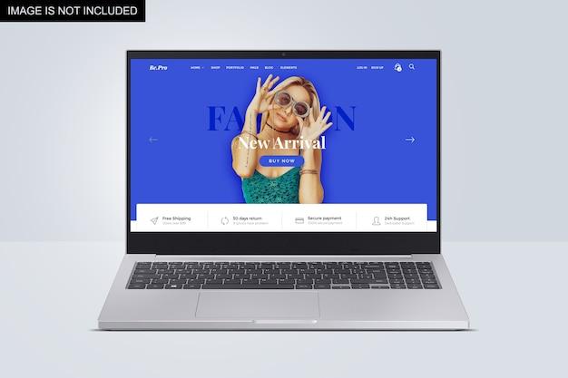 Vorderansicht des modernen laptop-modells