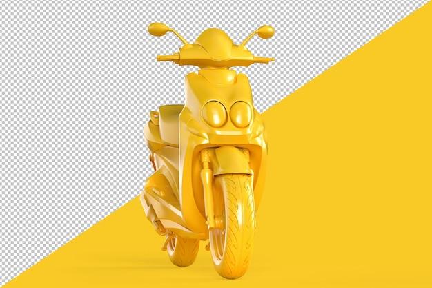 Vorderansicht des modernen motorroller-clipping-pfads