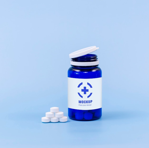 Vorderansicht des pillenbehälters