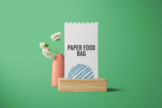 Vorderansicht food bag mockup design
