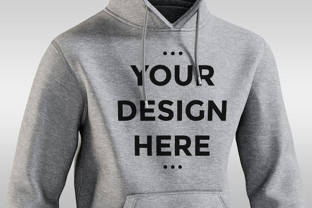 Vorderansicht hoodie modell isoliert
