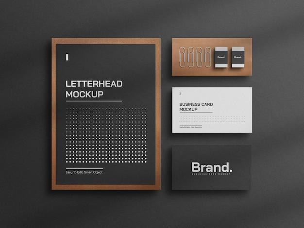 Vorderansicht modernes elegantes briefpapiermodell Premium PSD