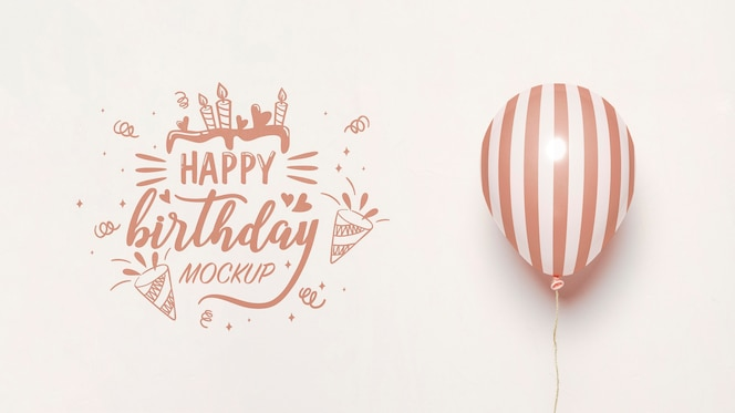 Vorderansicht von modellballons zum jubiläum