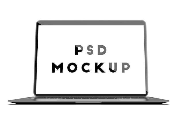 Vorderseite des offenen laptop-modells