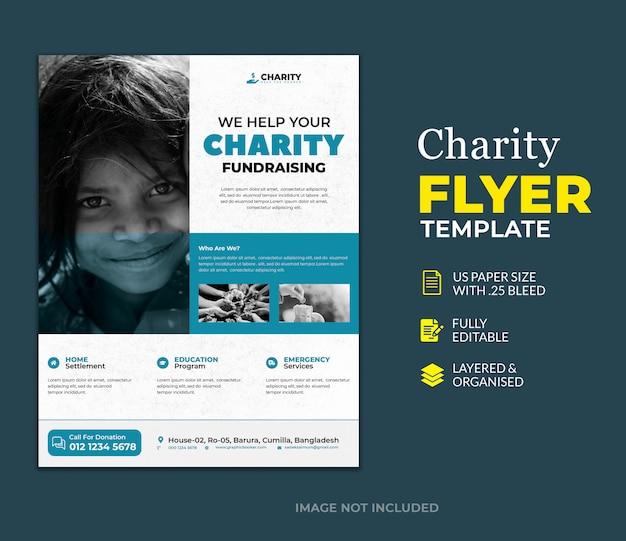 Vorlage des spenden-wohltätigkeits-flyers