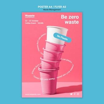 Vorlage für abfallmanagement-flyer