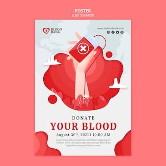 Vorlage für blutspendeplakate