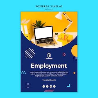 Vorlage für das beschäftigungsgeschäftsplakat