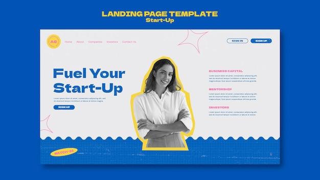 Vorlage für das design der startup-landingpage