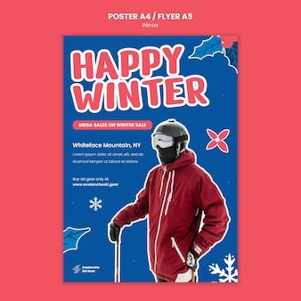 Vorlage für das design des winterschlussverkaufsplakats