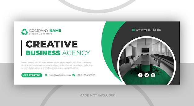 Vorlage für das facebook-banner einer agentur für digitales marketing