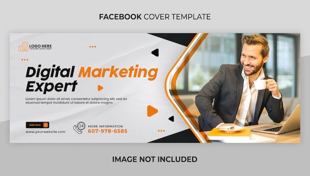 Vorlage für die facebook-titelseite für digitales marketing