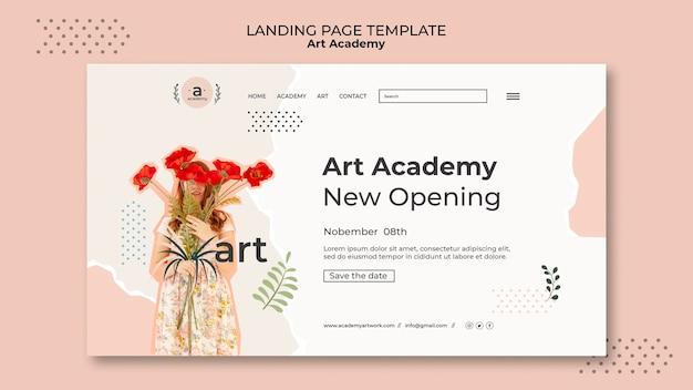 Vorlage für die landingpage der kunstakademie
