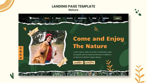 Vorlage für die natur-landingpage