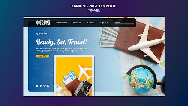 Vorlage für die reise-landingpage