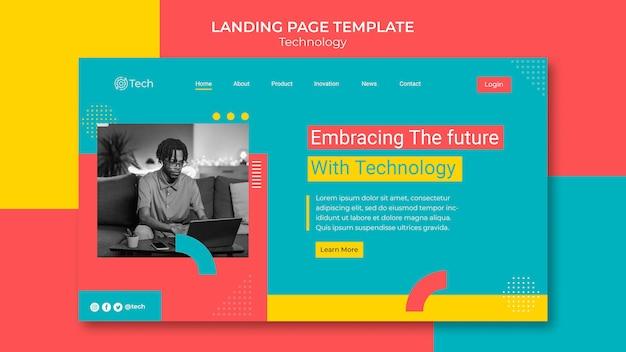 Vorlage für die technologie-landingpage