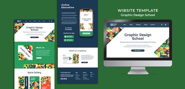 Vorlage für die website der schule für grafikdesign