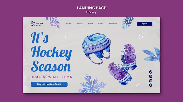 Vorlage für die zielseite der eishockeysaison