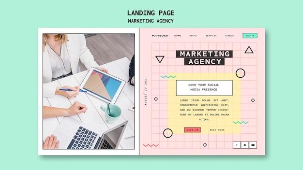 Vorlage für die zielseite einer social-media-marketingagentur