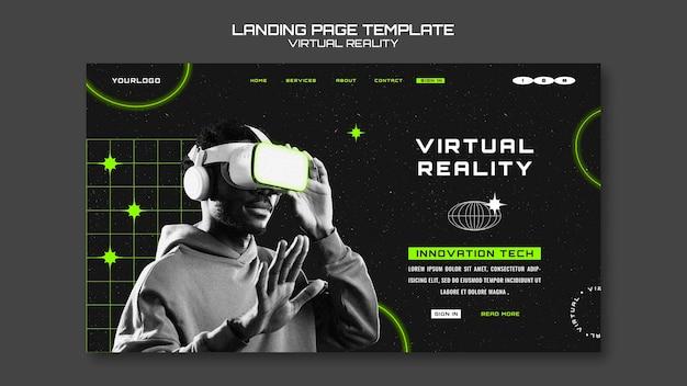 Vorlage für die zielseiten der virtuellen realität
