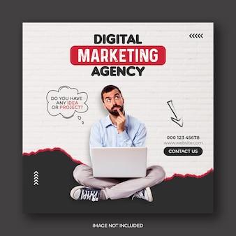 Vorlage für digitale marketingagentur und corporate social media banner