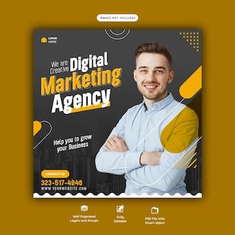 Vorlage für digitale marketingagenturen und social-media-beiträge für unternehmen