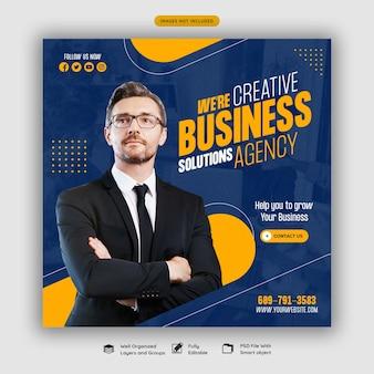 Vorlage für digitale marketingagenturen und social-media-posts für unternehmen