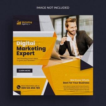 Vorlage für digitales marketing für soziale medien und instagram-posts