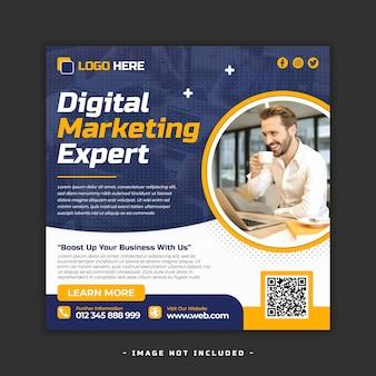 Vorlage für digitales marketing und soziale medien für unternehmen und webbanner premium psd