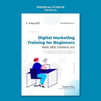 Vorlage für digitales marketingplakat